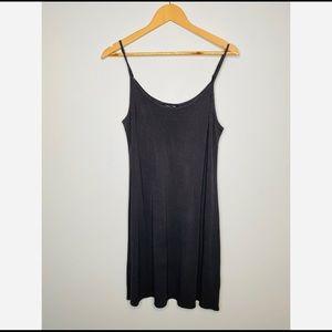 Eileen Fisher 100% Silk Grey Slip Dress Size Large